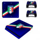 FIGC Italia Play Station 4 slim skin decal for console and 2 controllers