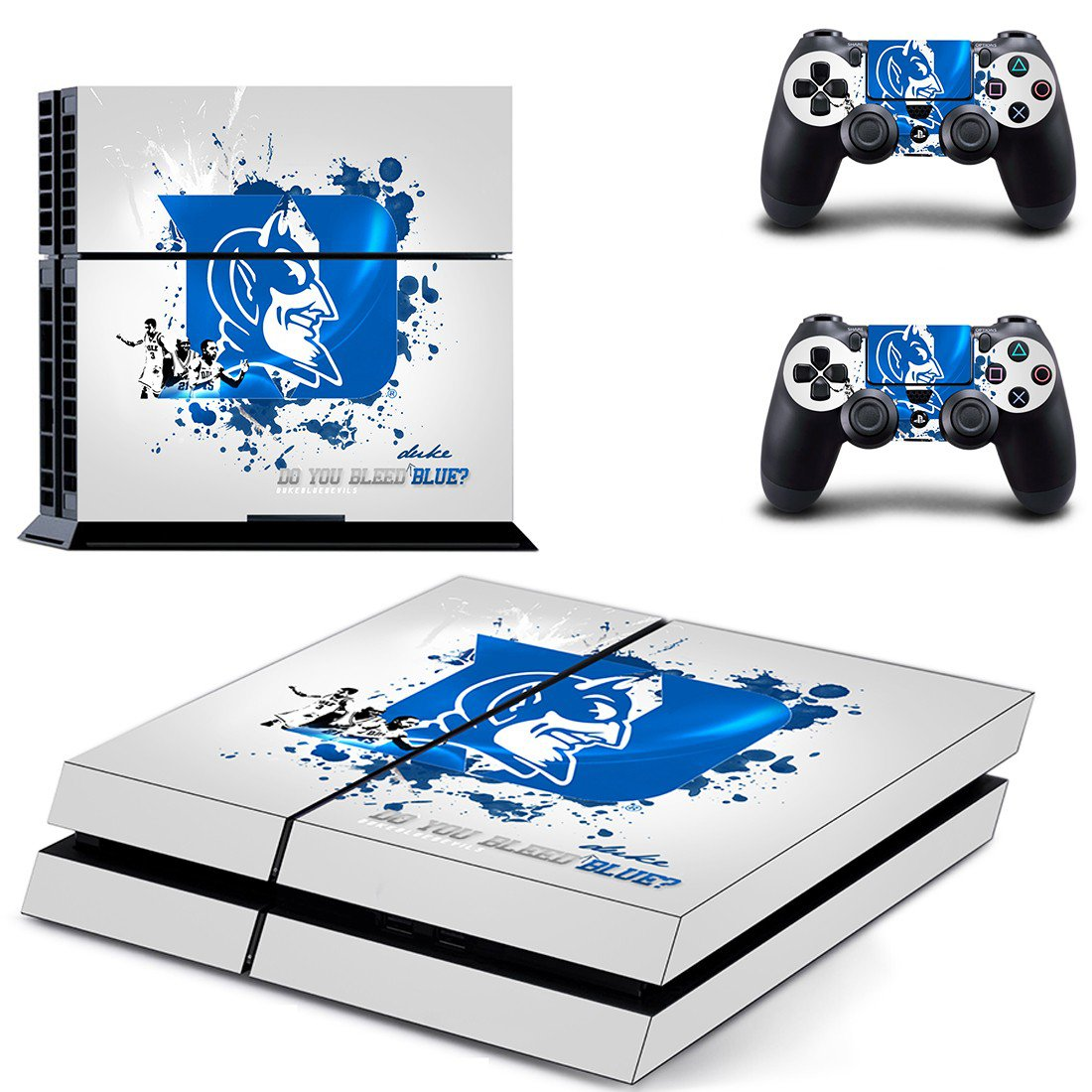 Duke blue devils ps4 skin decal for console and controllers