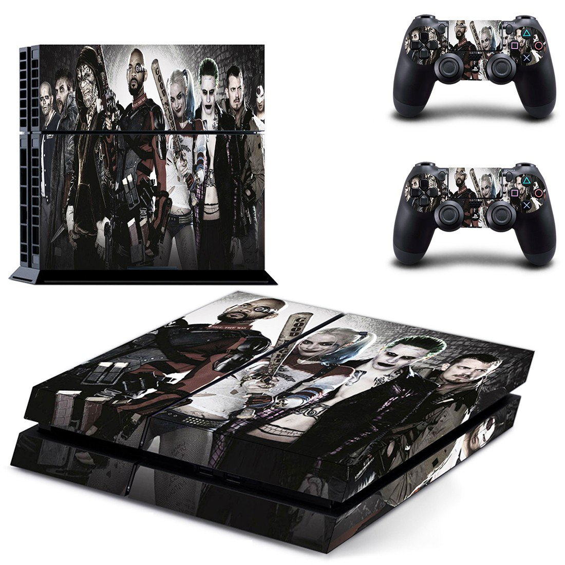 Suicide Squad villain ps4 skin decal for console and controllers