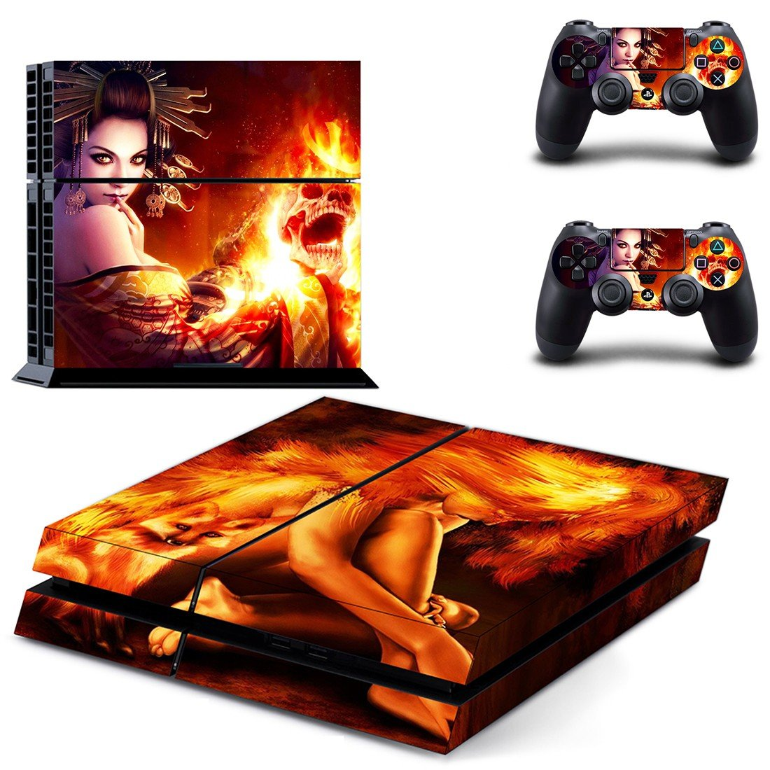 Artistic Geisha ps4 skin decal for console and controllers