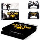 Infamous second son ps4 skin decal for console and controllers