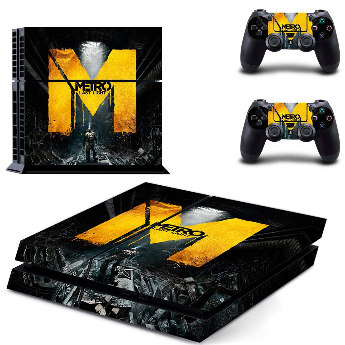 Metro Last Light ps4 skin decal for console and controllers