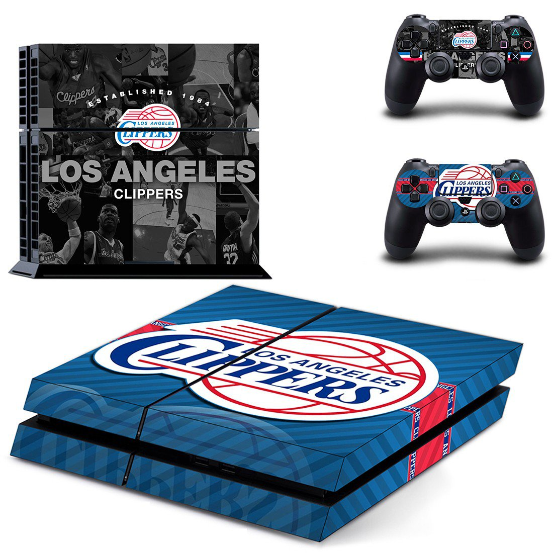 Los Angeles Clippers ps4 skin decal for console and controllers
