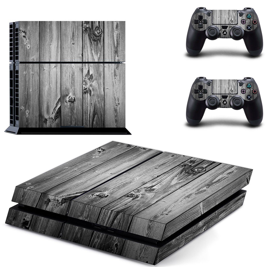 Ash Color Wood ps4 skin decal for console and controllers