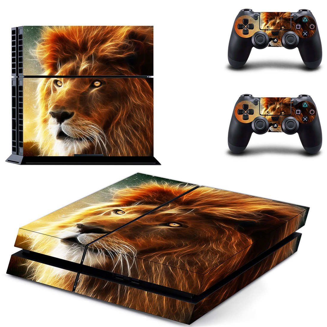 Fire Lions ps4 skin decal for console and controllers