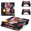 harley quinn margot robbie outfit ps4 skin decal for console and controllers