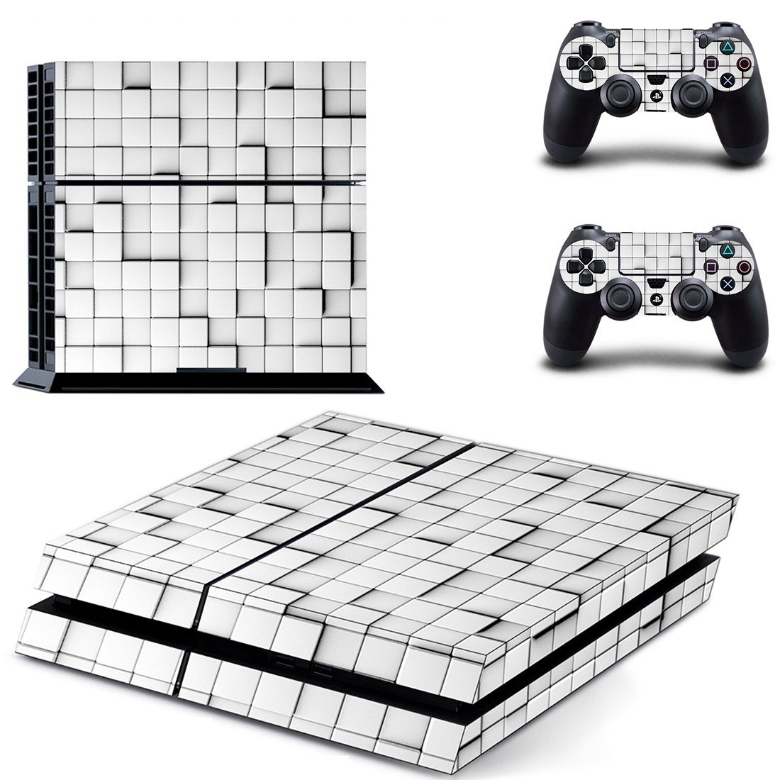 White Square Tiles ps4 skin decal for console and controllers