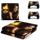 Cute Girl ps4 skin decal for console and controllers