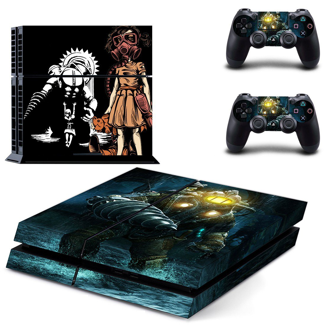 Bioshock Big daddy ps4 skin decal for console and controllers