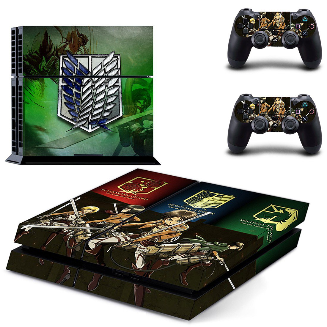 Attack on Titan ps4 skin decal for console and controllers