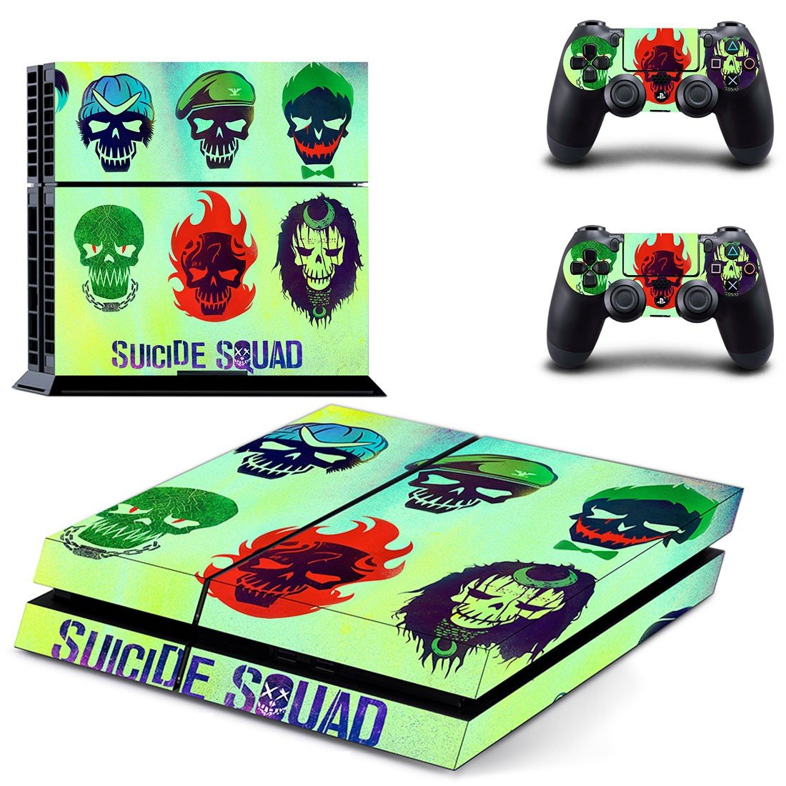 Suicide Squad ps4 skin decal for console and controllers