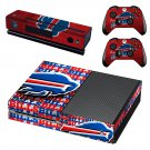 Buffalo Bills Football team skin decal for Xbox one console and controllers