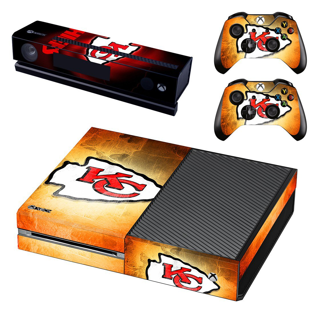Kansas City Chiefs skin decal for Xbox one console and controllers