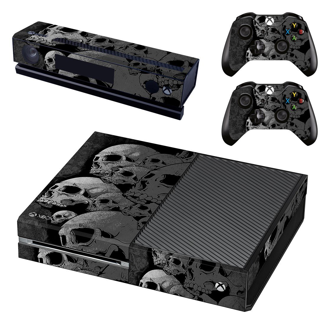 Broken Skull skin decal for Xbox one console and controllers