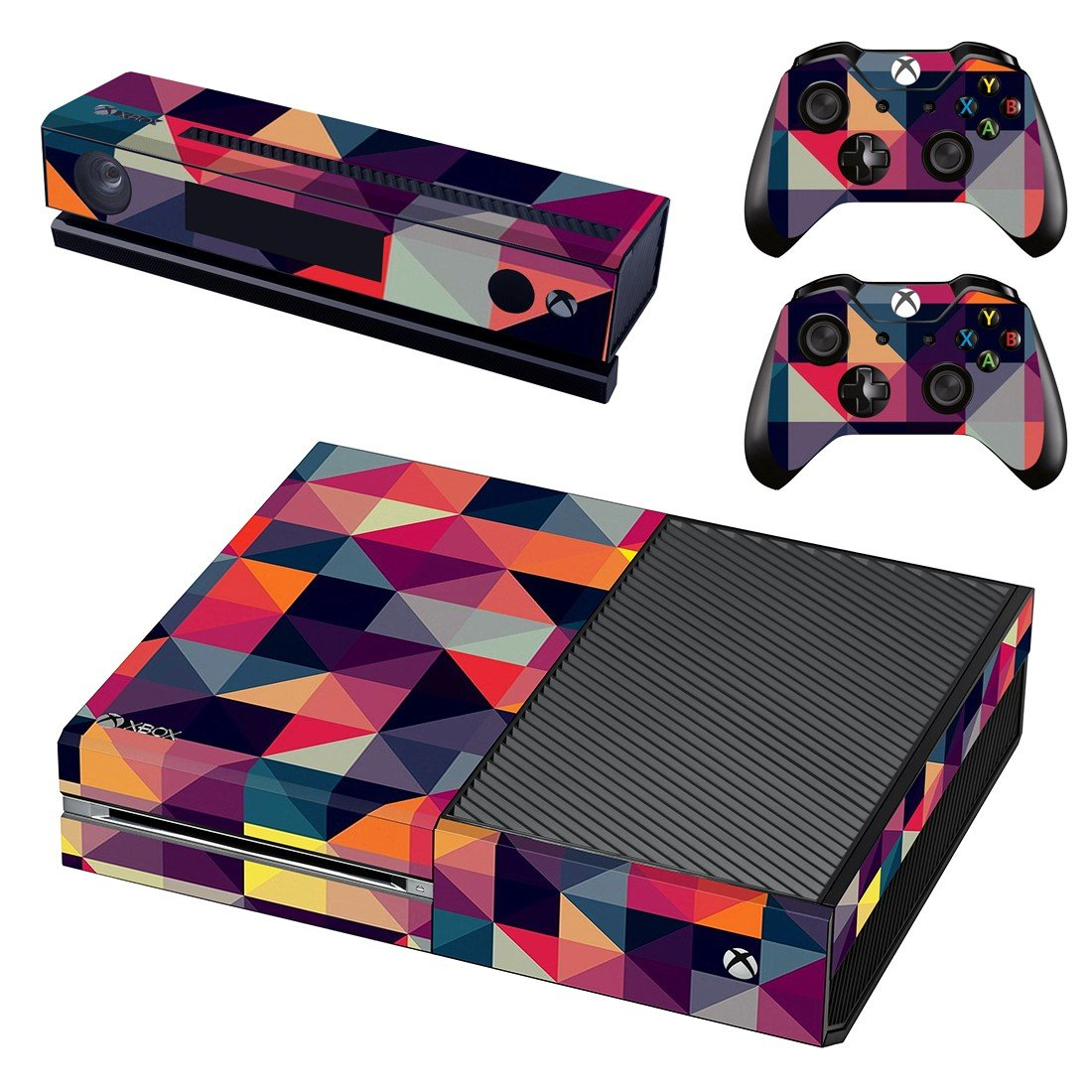 Colorfull Prism shape skin decal for Xbox one console and controllers