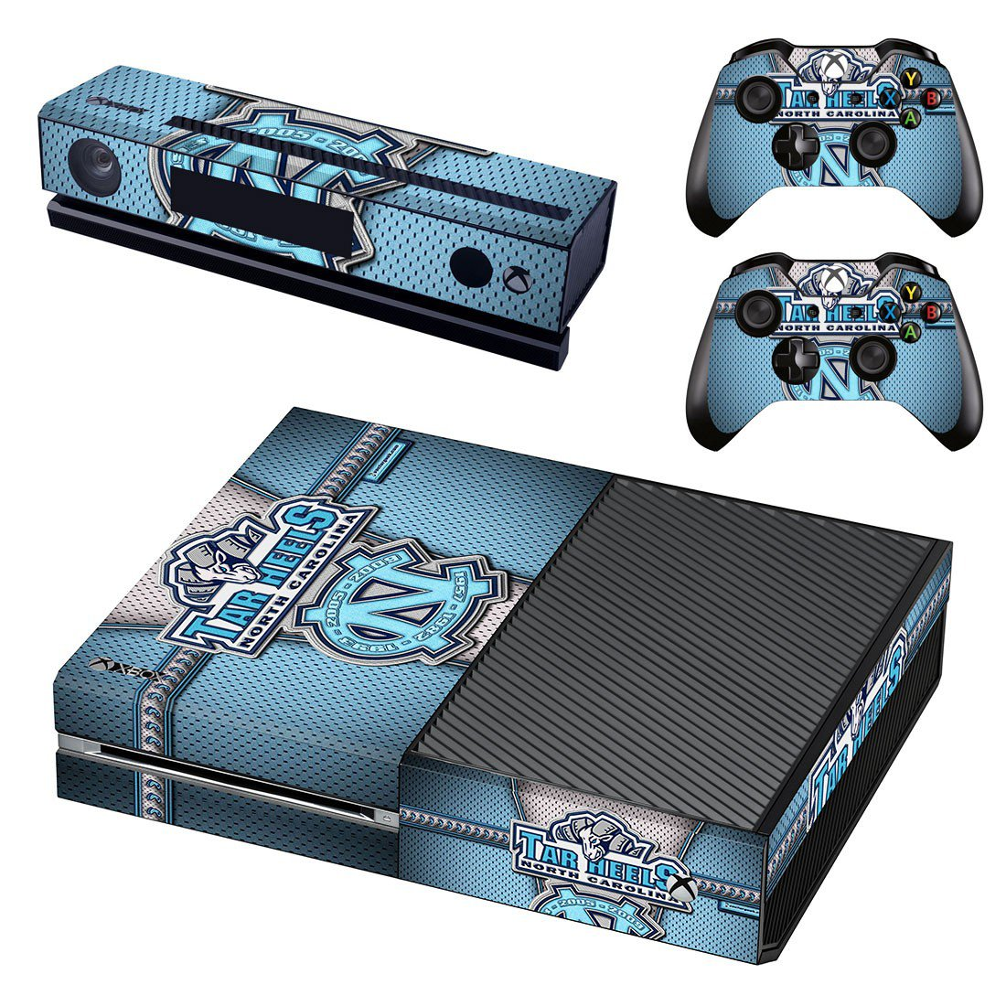 North Carolina Tar Heels skin decal for Xbox one console and controllers