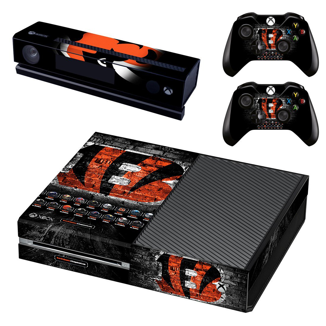 Cincinnati Bengals skin decal for Xbox one console and controllers