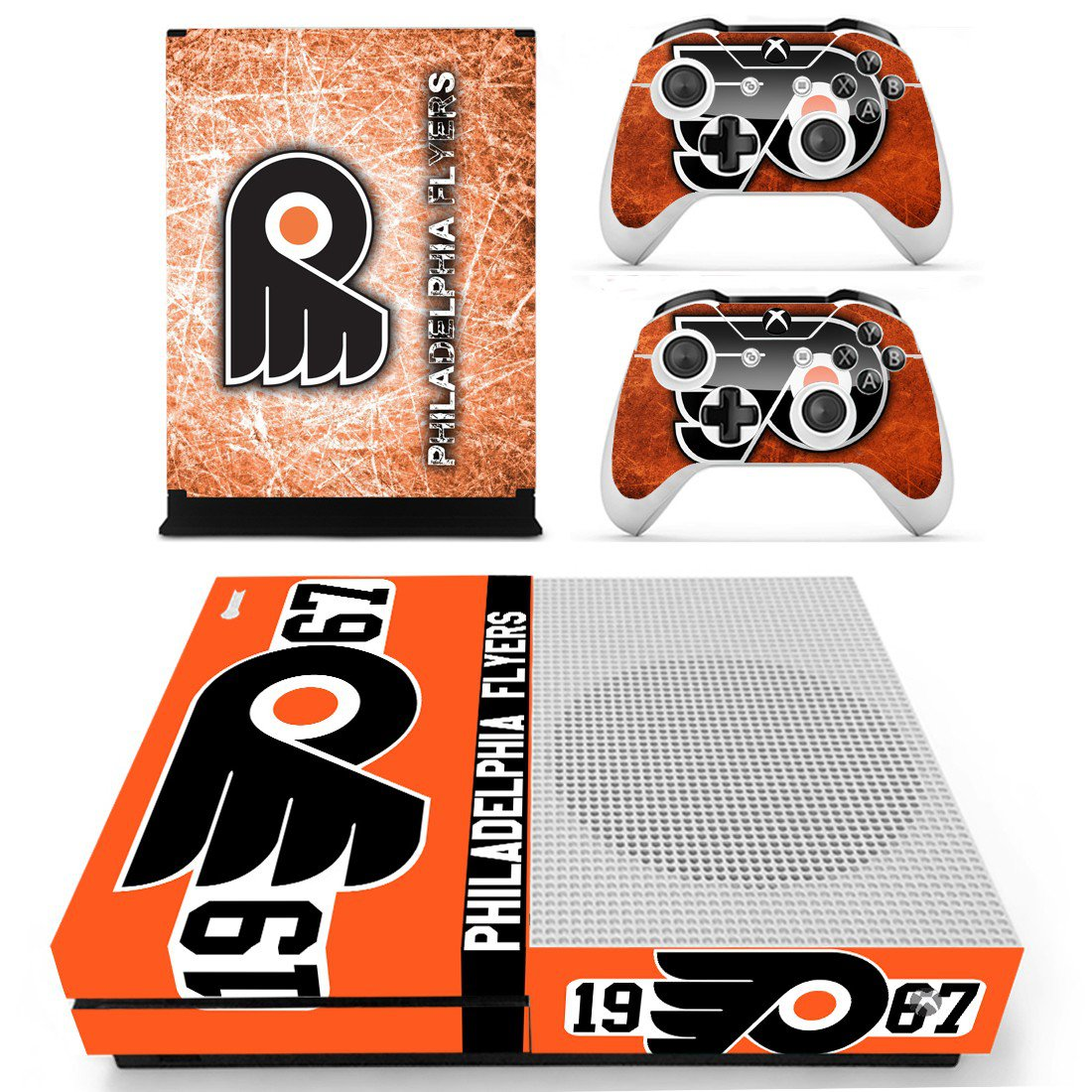 Philadelphia Flyers skin decal for Xbox one S console and controllers