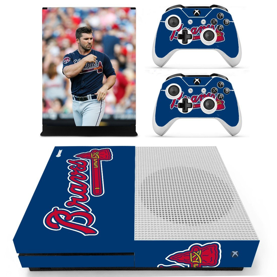 Atlanta Braves skin decal for Xbox one S console and controllers