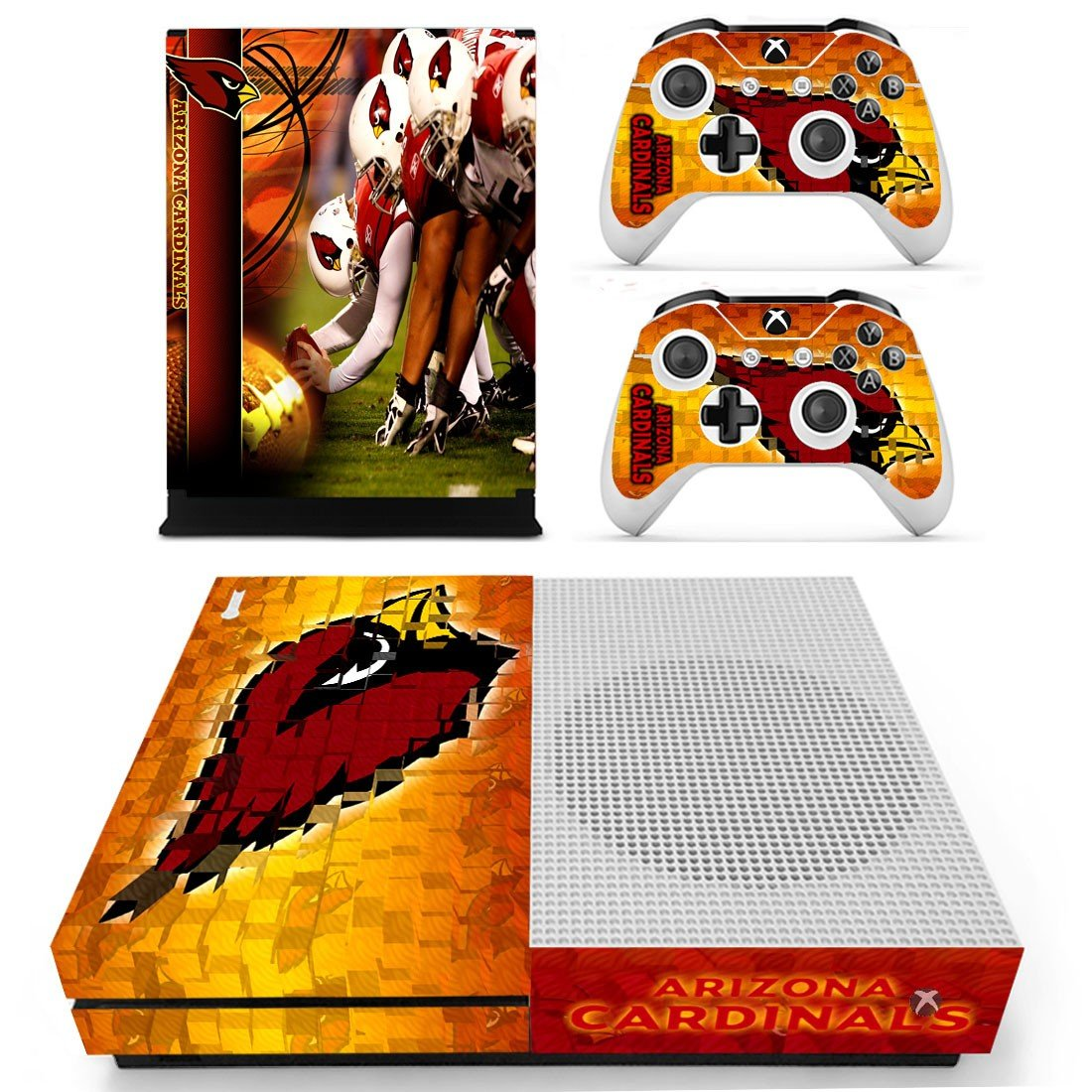 Arizona Cardinals skin decal for Xbox one S console and controllers
