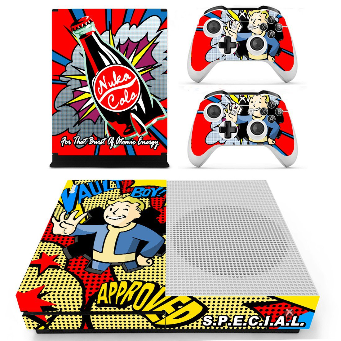 Fault Boy skin decal for Xbox one S console and controllers