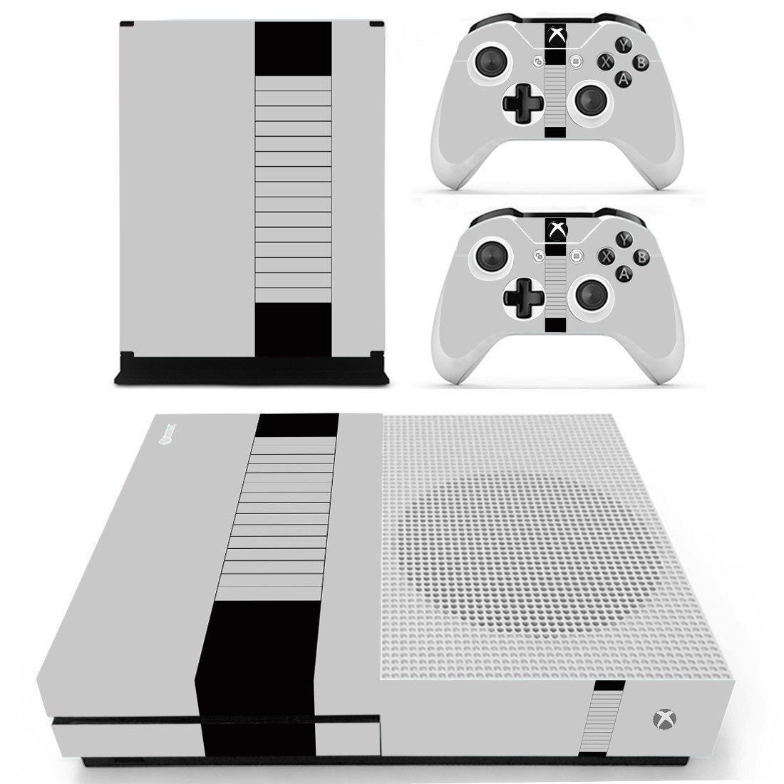 Black Row Style skin decal for Xbox one S console and controllers