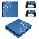 Sony Showcases Play Station 4 slim skin decal for console and 2 controllers