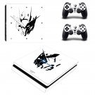 Gundam 00 raiser Play Station 4 slim skin decal for console and 2 controllers