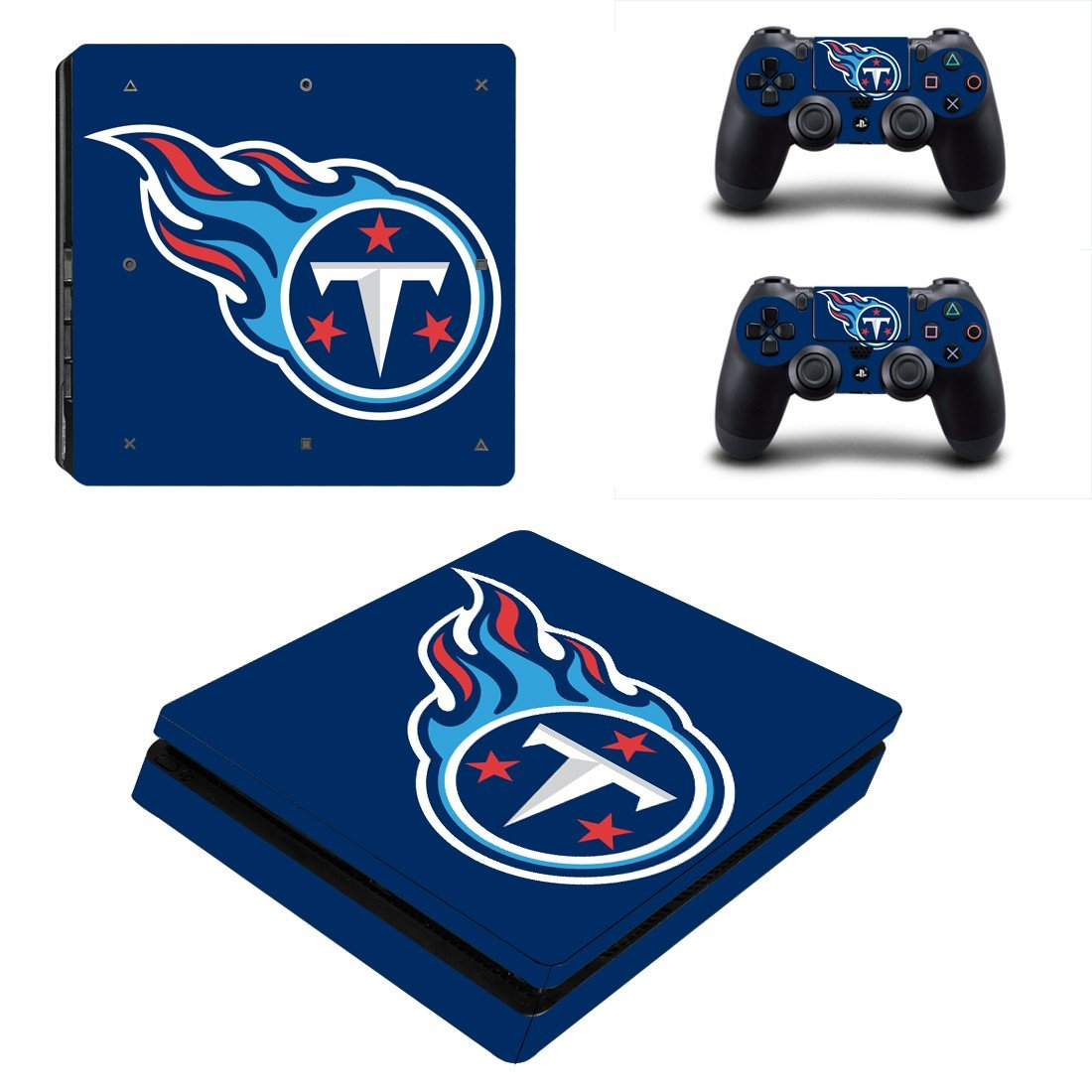 Tennessee titans Play Station 4 slim skin decal for console and 2 controllers