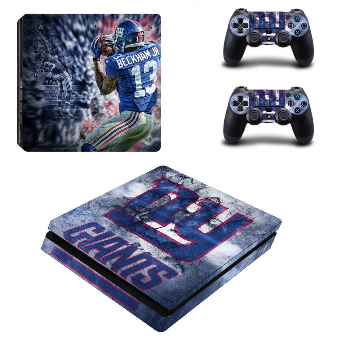 New york Giants Play Station 4 slim skin decal for console and 2 controllers