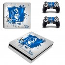 Bleed blue duke Play Station 4 slim skin decal for console and 2 controllers