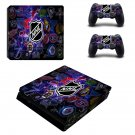 NHL Hockey Pucks Play Station 4 slim skin decal for console and 2 controllers