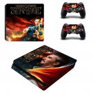 Doctor Strange Play Station 4 slim skin decal for console and 2 controllers
