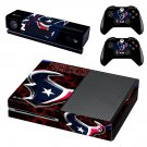 Houston Texan skin decal for Xbox one console and controllers