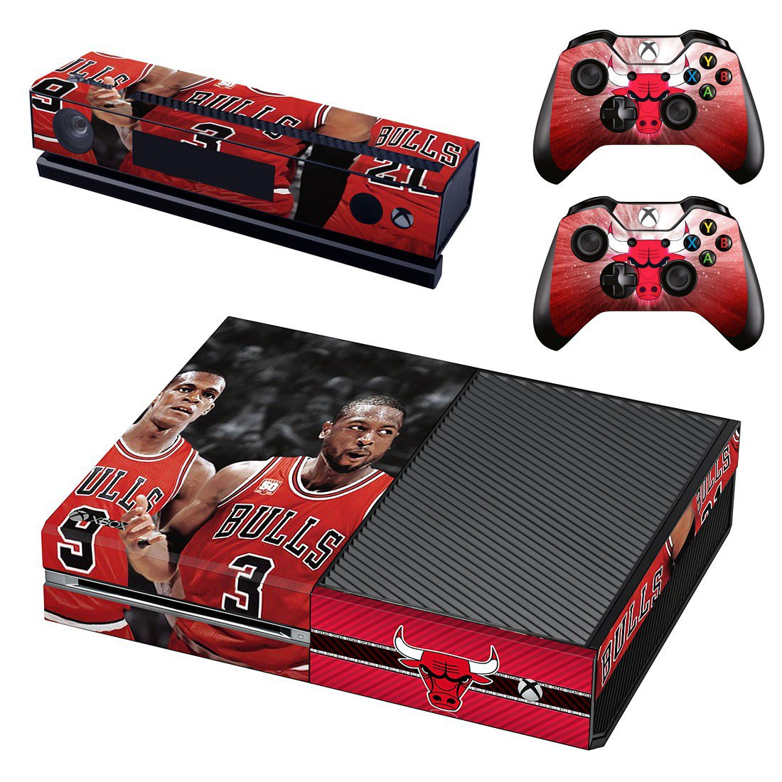Chicago Bulls skin decal for Xbox one console and controllers