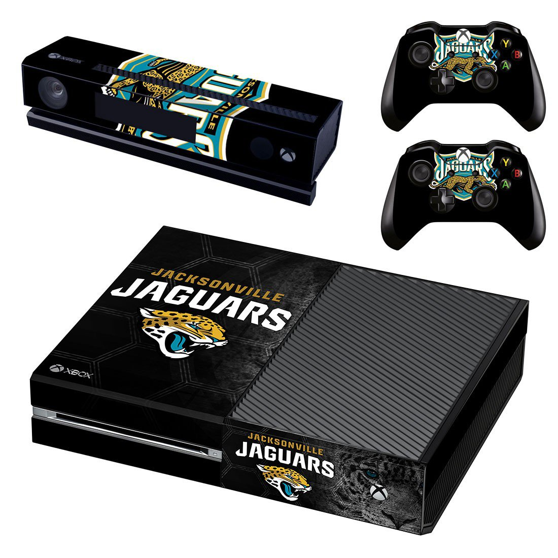 Jacksonville Jaguars skin decal for Xbox one console and controllers