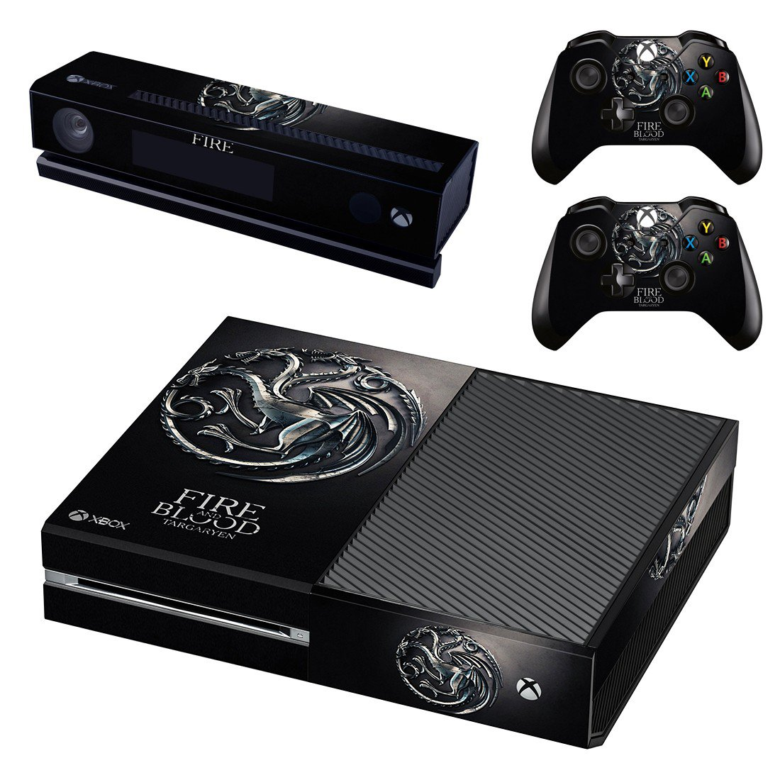 Fire and blood targaryen skin decal for Xbox one console and controllers