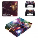 Ironman Tony Stark ps4 pro skin decal for console and controllers