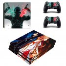 Kirito ps4 pro skin decal for console and controllers