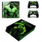 The Incredible Hulk ps4 pro skin decal for console and controllers
