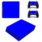 Blue Texture ps4 pro skin decal for console and controllers