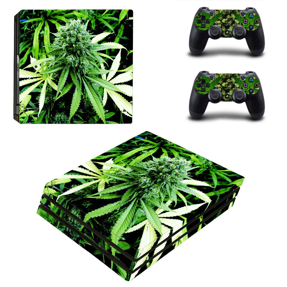 Plants Leaves ps4 pro skin decal for console and controllers