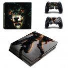 Animated wolf ps4 pro skin decal for console and controllers