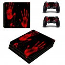 Suicide red hand ps4 pro skin decal for console and controllers