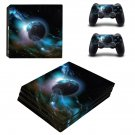 Sky Planet ps4 pro skin decal for console and controllers