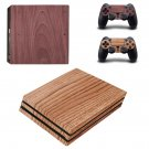 Wooden Board ps4 pro skin decal for console and controllers
