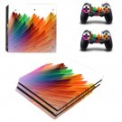 Colorful feathers ps4 pro skin decal for console and controllers