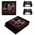 Metal Skeleton ps4 pro skin decal for console and controllers
