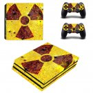 Radioactive art ps4 pro skin decal for console and controllers