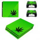 Cannabis Leaf Board ps4 pro skin decal for console and controllers